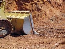 Excavator on Construction Site Stock Image