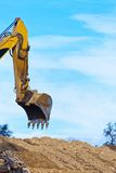 Excavator at construction work on site Royalty Free Stock Photo