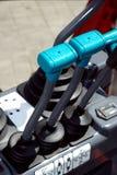 Excavator control handlebars Stock Photos