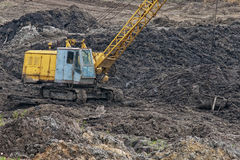 Excavator crane Stock Images