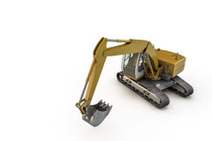 Excavator. 3d illustration of an excavator isolated on white background Royalty Free Stock Image