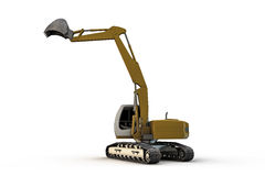 Excavator. 3d illustration of an excavator isolated on white background Stock Photo
