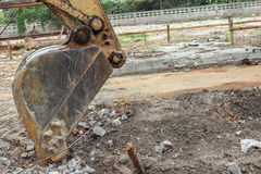 Excavator destruction in Work outdoor construction Royalty Free Stock Image