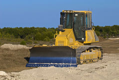 Excavator on the dig site. Excavator on the work site Royalty Free Stock Photos