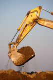 Excavator digging Royalty Free Stock Photos
