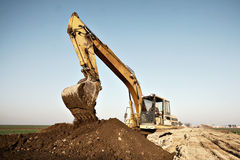 Excavator digging Stock Photo