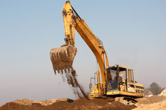 Excavator digging Royalty Free Stock Photo