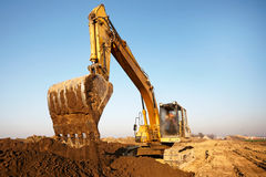 Excavator digging Royalty Free Stock Images