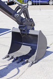 Excavator digging scoop Royalty Free Stock Images