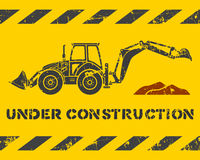 Excavator and dirt Royalty Free Stock Images