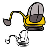 Excavator Doodle Royalty Free Stock Images