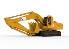 Excavator driving school concept Royalty Free Stock Photo
