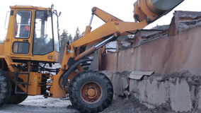 Excavator Dumps Gravel stock video