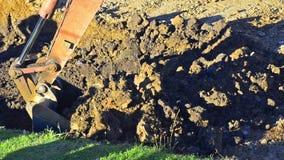 Excavator Dumps Gravel stock video footage