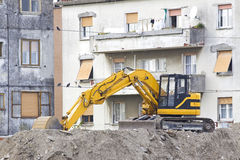 Excavator of the earth Royalty Free Stock Images