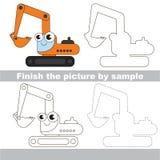 excavator Folha do desenho ilustração stock