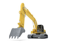 Excavator front view Royalty Free Stock Image