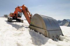 Excavator on the glacier Stock Image