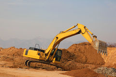 Excavator grab Stock Photos