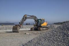 Excavator and gravel Stock Photo