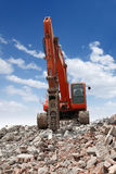 Excavator With Hammer Royalty Free Stock Images