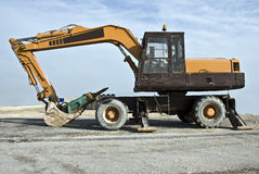 Excavator with Hammer attachment Royalty Free Stock Photos