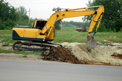 Excavator Heavy Equipment Stock Image
