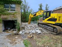 House being demolished Royalty Free Stock Photos