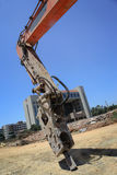 Excavator,hydraulic arm Royalty Free Stock Images
