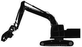 Excavator with hydraulic crusher Stock Photos