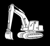 Excavator icon Royalty Free Stock Images