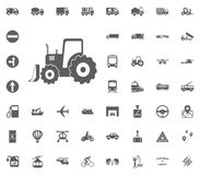 Excavator icon. Transport and Logistics set icons. Transportation set icons.  Stock Photography