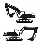 Excavator icon Stock Photography