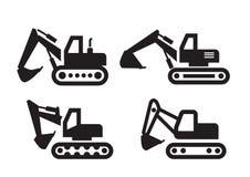 Excavator icon Royalty Free Stock Photos
