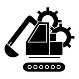 Excavator  icon, vector illustration, sign on isolated background Stock Photo