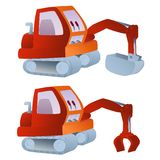 Excavator illustration Royalty Free Stock Image