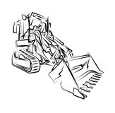 Excavator illustration art work drawing fun sketch. A very nice excavator illustration art work drawing fun sketch good for any design or project Stock Images