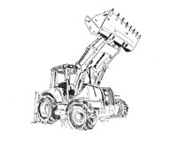 Excavator illustration art work drawing fun sketch. A very nice excavator illustration art work drawing fun sketch good for any design or project Stock Photography