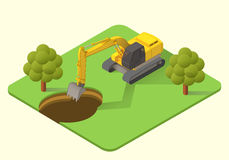 Excavator  illustration Stock Photo