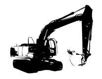 Excavator illustration isolated art work Stock Photography