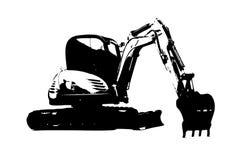 Excavator illustration isolated art work Royalty Free Stock Image