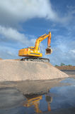 Excavator In A Limestone Stock Photos