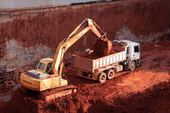 Free Excavator In The Construction Site Stock Image - 56467771