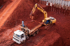 Free Excavator In The Construction Site Royalty Free Stock Photography - 56467817