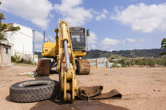 Excavator Industrial Earthworks Royalty Free Stock Image