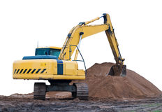 Excavator isolated Stock Images