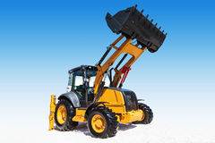 Excavator, isolated with clipping path Royalty Free Stock Images
