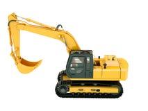 Excavator isolated. Construction heavy machine: excavator isolated on white background Stock Photos