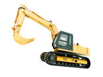 Excavator isolated Royalty Free Stock Photos