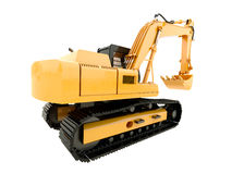 Excavator isolated Royalty Free Stock Photography